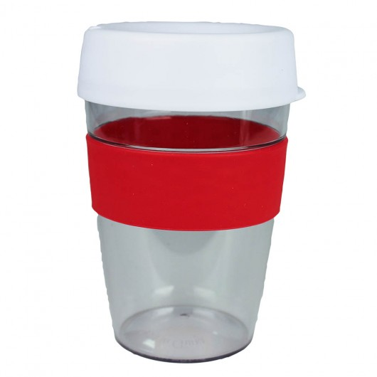 White Red Carry Cups