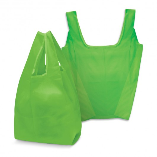 Bright Green Checkout Shopping Bags