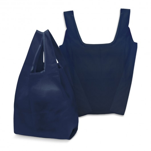 Navy Checkout Shopping Bags
