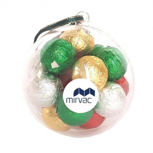 Chocolate Clear Baubles