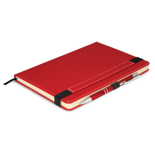 Classic Notebooks and Pens red