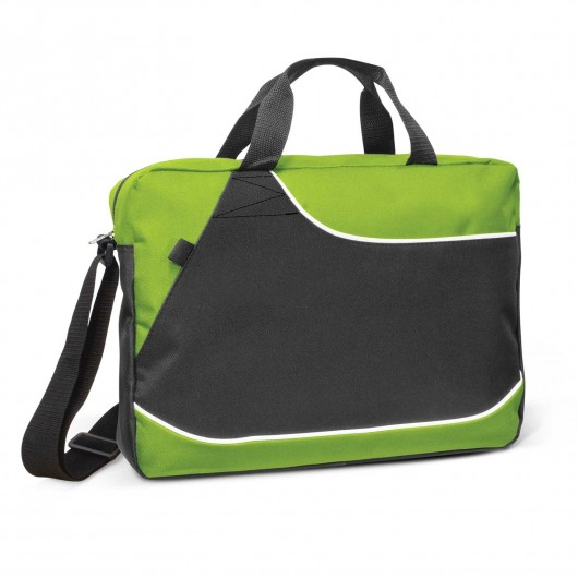 Bright Green Clayfield Conference Satchels