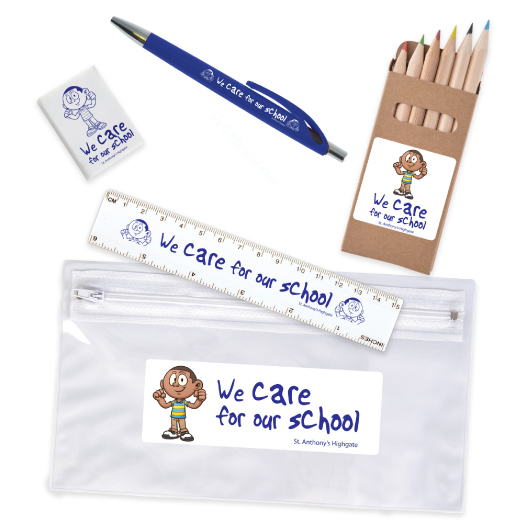 Stationery Set in PVC Pencil Case Hero Shot
