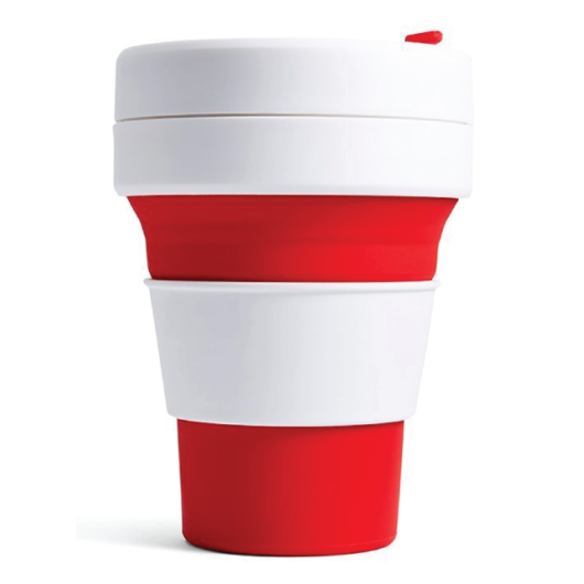RedCollapsibleEcoCups