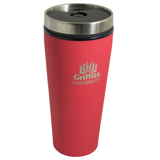 Coloured Schumacher Travel Mugs red