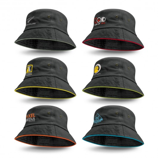 Promotional Coloured Trim Bucket Hats