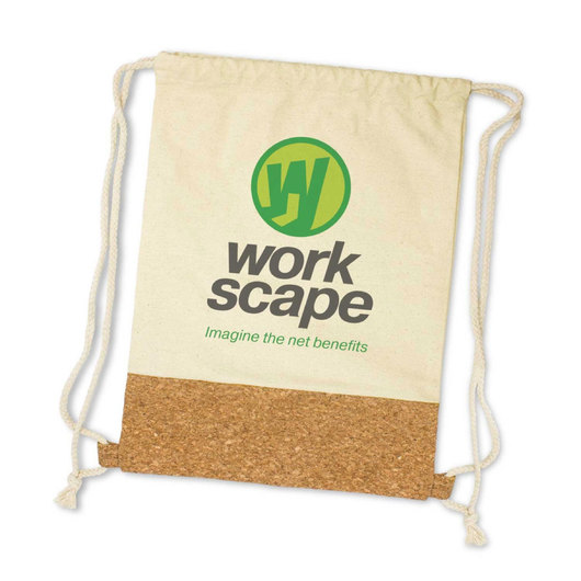 Promotional Cork Calico Backsacks