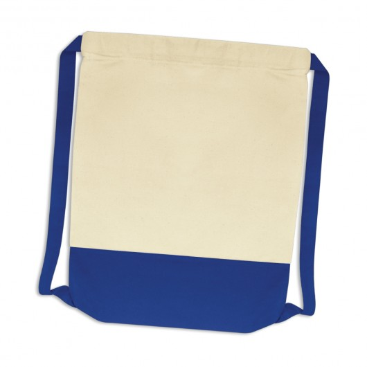 Cotton Drawstring Backsacks Royal Blue