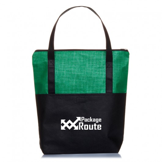 Lime Crosshatch Tote Bags