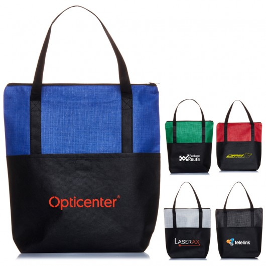 Promotional Crosshatch Tote Bags