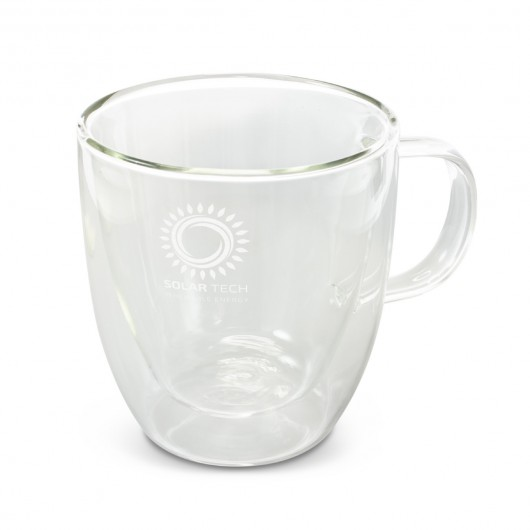Etched Double Wall Glass Cups