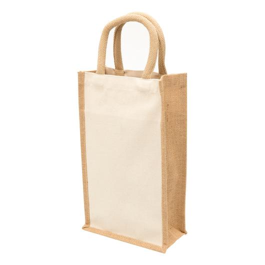 Eco Jute Double Bottle Wine Bags