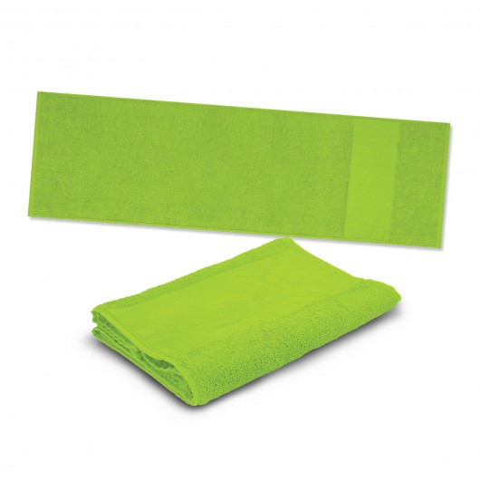 Bright Green Energy Sports Towels