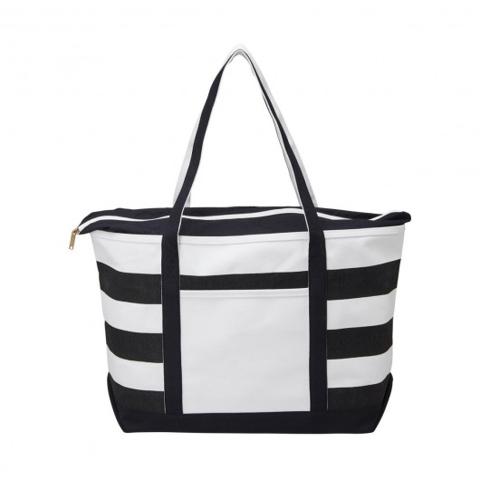 Fashionable Boat Totes Black Front