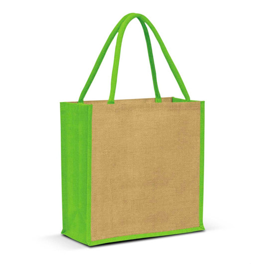 Forrest Jute Bags Natural Bright Green