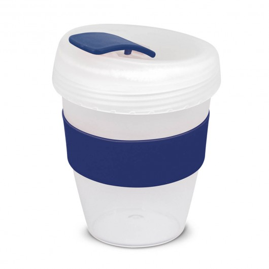 White Dark Blue Frosted Forrest Eco Cups