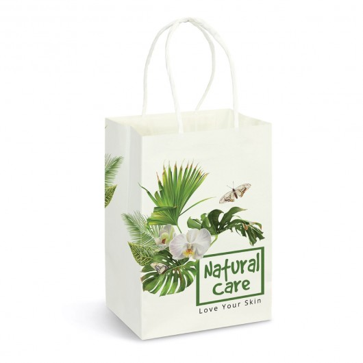 Full Colour Small Paper Carry Bags printed