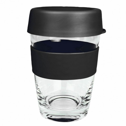 Black Glass Carry Cups