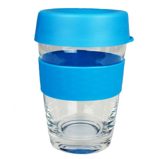 Light Blue Glass Carry Cups