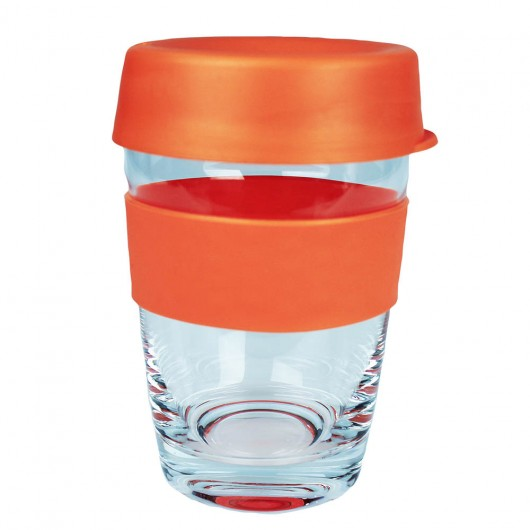 Orange Glass Carry Cups