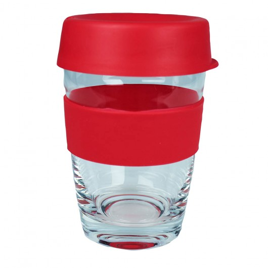 Red Glass Carry Cups