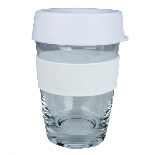 White Glass Carry Cups