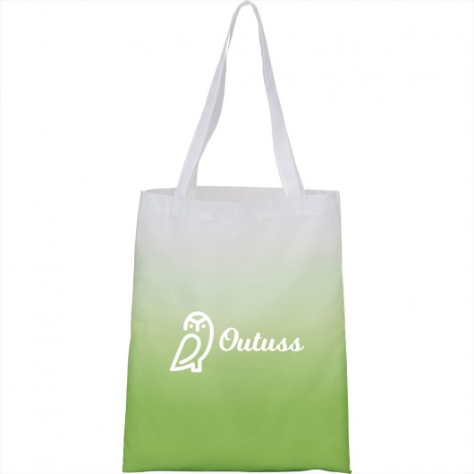 Gradient Tote Bags Lime