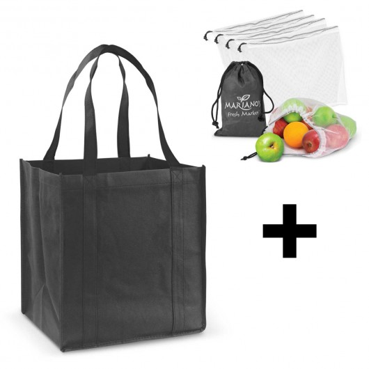 Black Grocery Shopping Pack