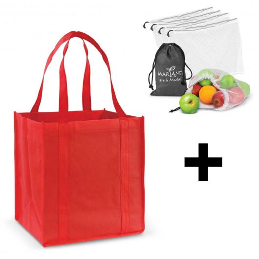 Red Grocery Shopping Packs