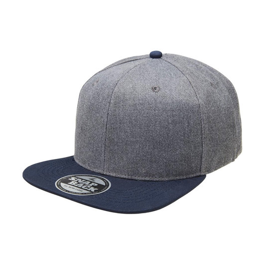 Heathered Snapbacks Charcoal Navy