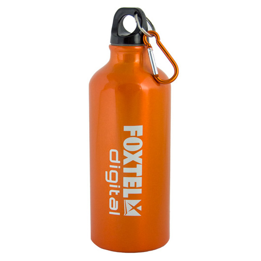 Henley Metal Drink Bottle Orange