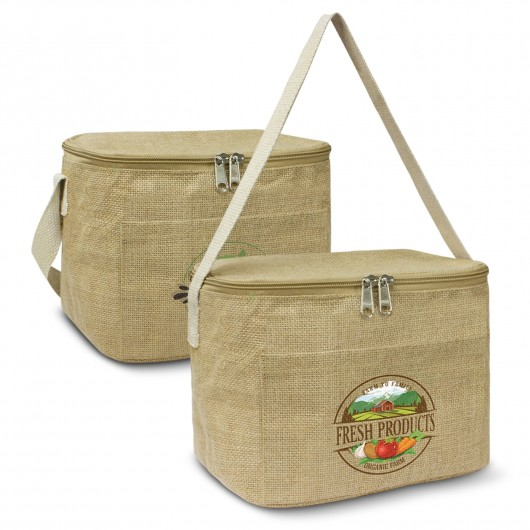 Printed Jute Lunch Cooler Bags