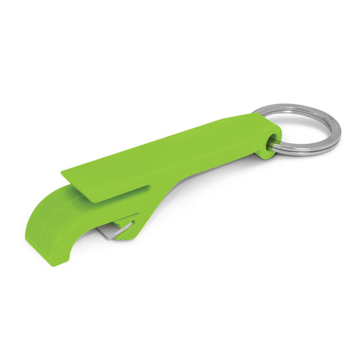 Bottle Opener Keyrings Bright Green
