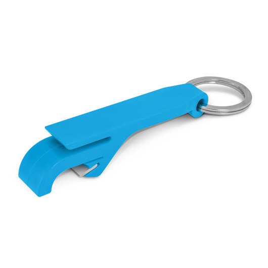 Bottle Opener Keyrings Light Blue
