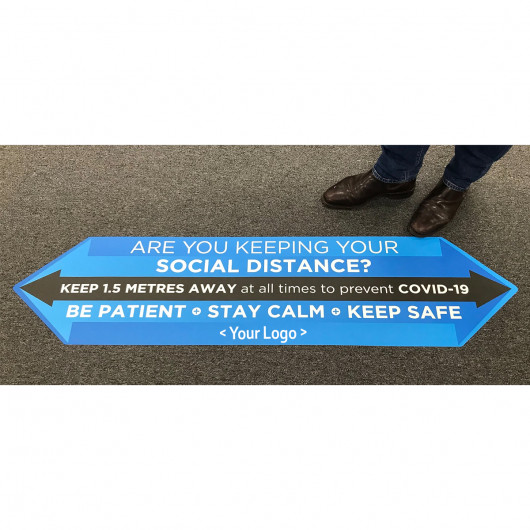 Large Social Distancing Floor Stickers