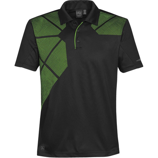 Mens Prism Polos Spring Green