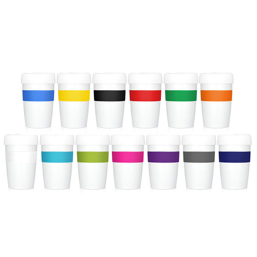 Promotional Metal Cup 2 Go white group