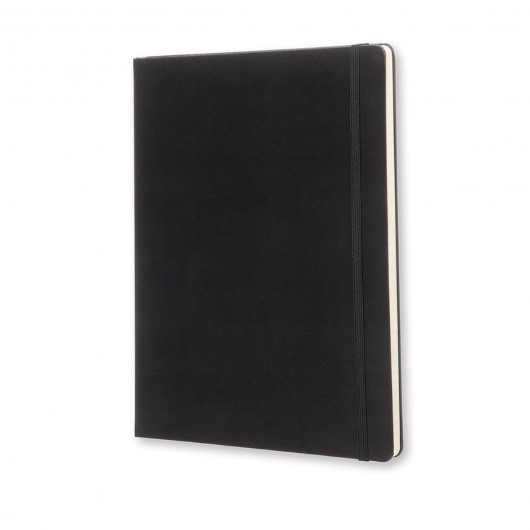 Moleskine X-Large Classic Hard Cover Notebook - Ruled Black