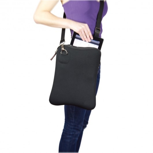 Neoprene Shoulder Satchels In Use