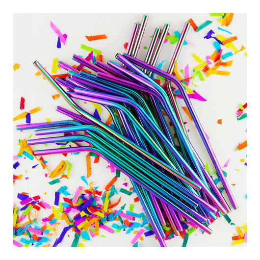 Rainbow Promotional Straws
