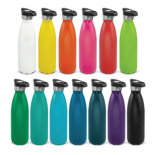 Push Button Powder Coated Vacuum Bottles