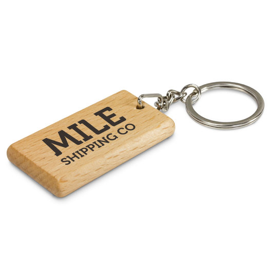 Printed Rectangular Wood Keyrings