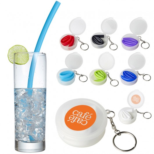 Promotional Silicone Straws With Cases