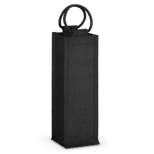 Single Jute Wine Carriers Black