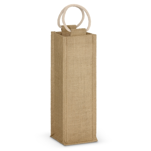 Single Jute Wine Carriers Natural