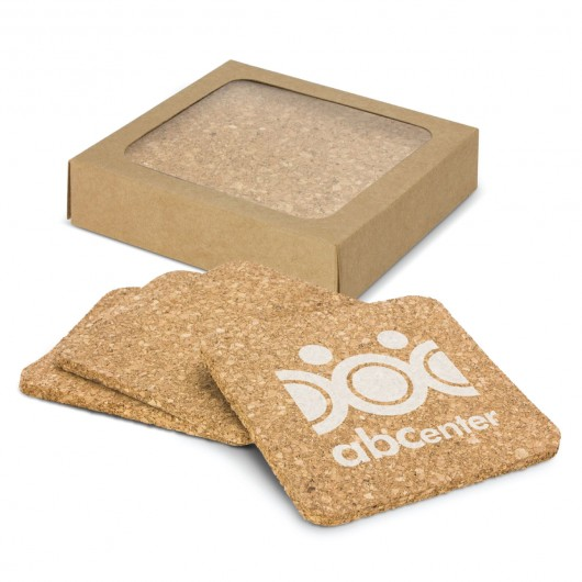 Square Cork Coasters (Set of 4) printed