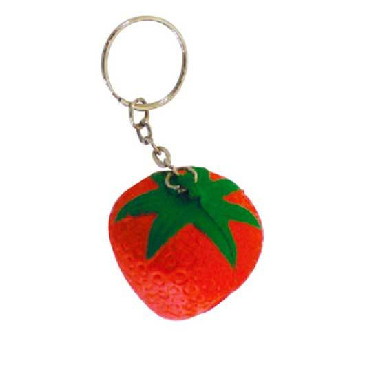 Stress Strawberry Keyrings