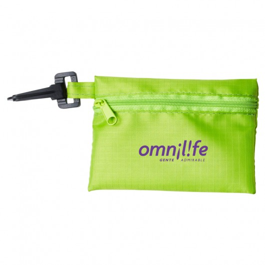 Lime Green Black Tech Kit Pouches