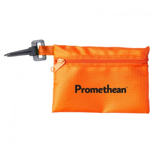Orange Black Tech Kit Pouches