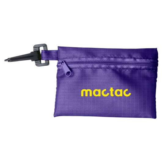 Purple Black Tech Kit Pouches